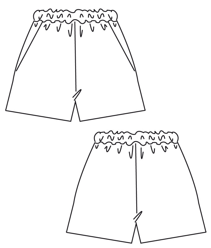 burda Schnittmuster Gummizughose ? Bermudas ? Shorts 6938 – bporg.de