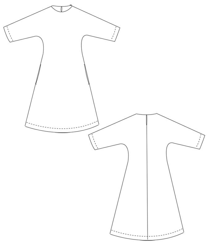 Schnittmuster kleid annaschnittchen schnittmuster und - Kimono schnittmuster kostenlos ...