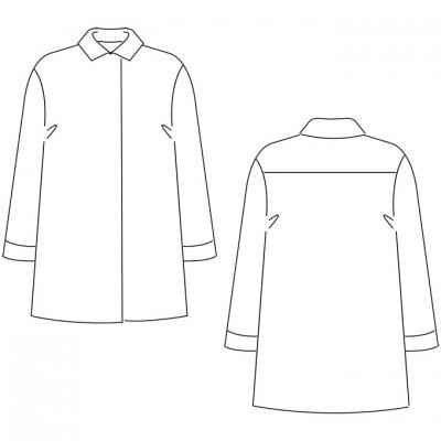 Bluse Michelle - technische Zeichnung / Michelle Blouse - technical drawing