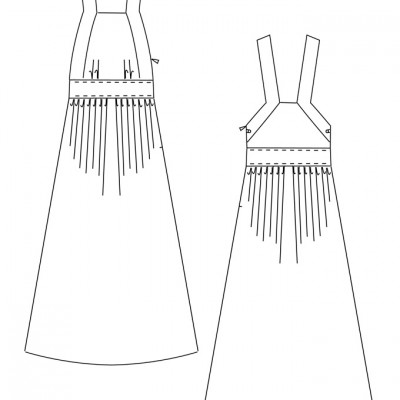 Kleid Ute - technische Zeichnung / Ute Dress - technical drawing
