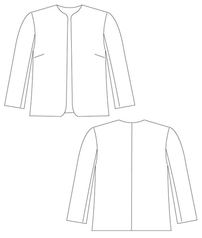 Sewing Pattern Jacket Coco