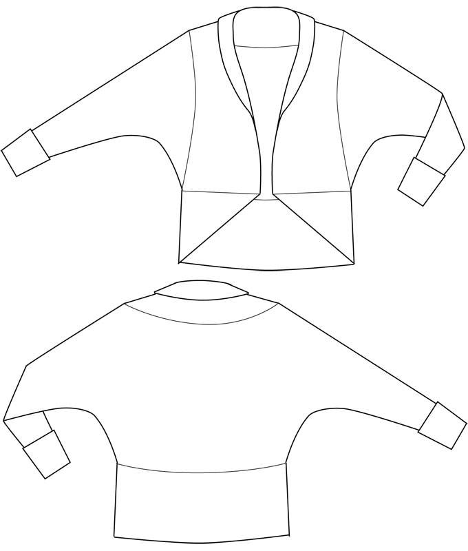 Sewing Pattern Cardigan Louise
