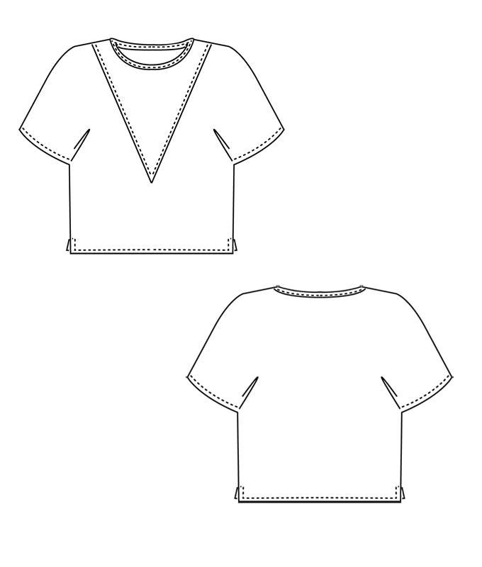 Sewing Pattern T Shirt Katja