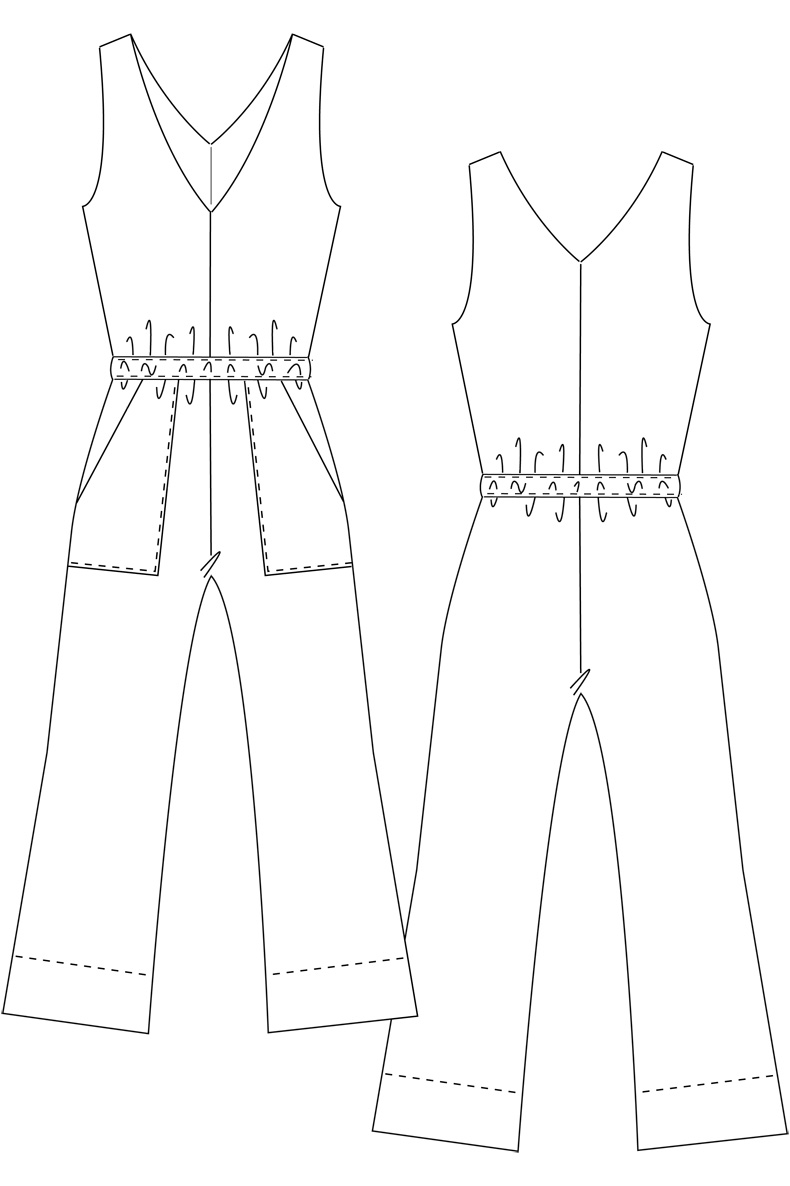Learn how to sew a Summer Jumpsuit - Sewing Pattern Carla Jumpsuit