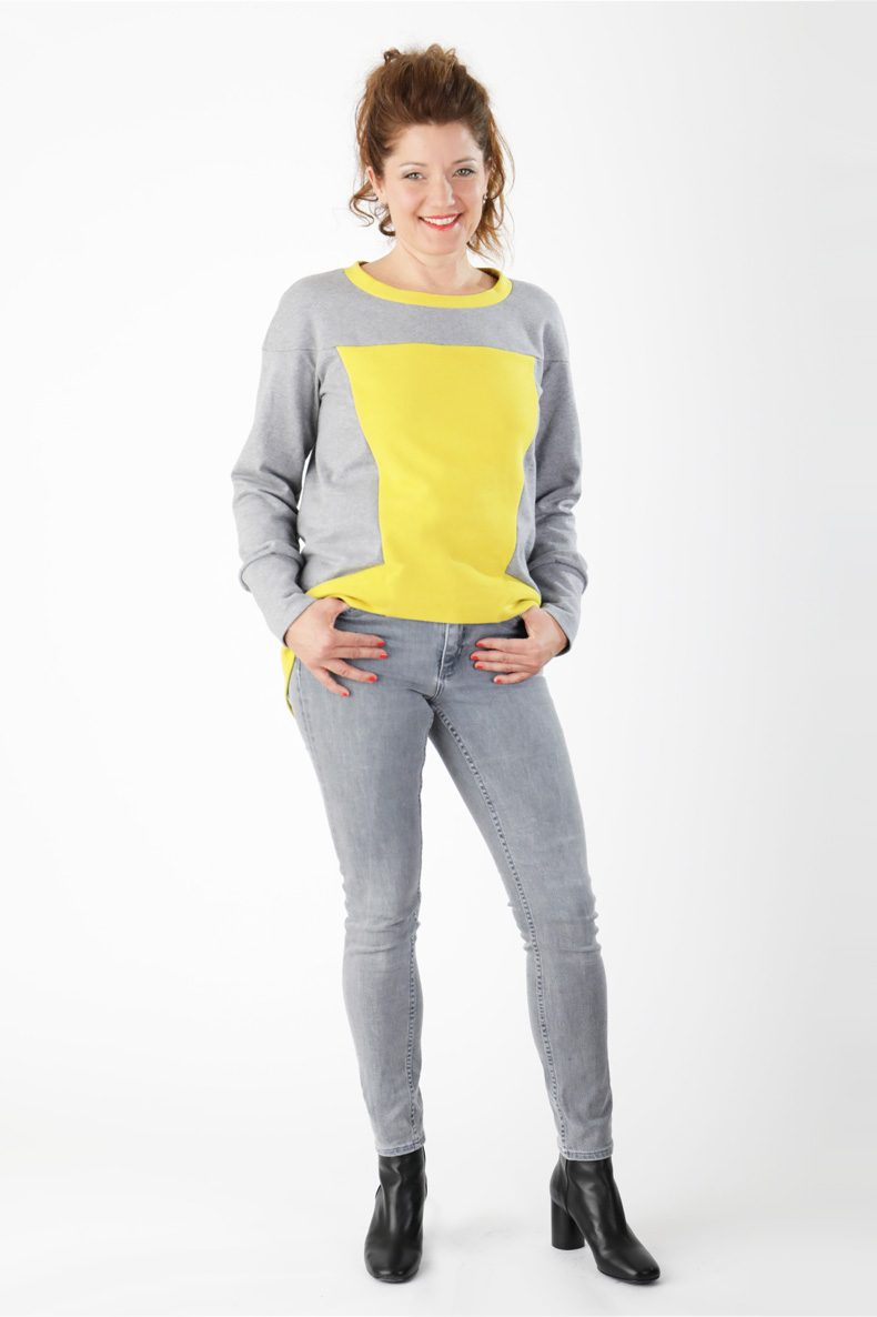 Sewing Pattern for a cool Sweatshirt with Video Sewing Tutorial