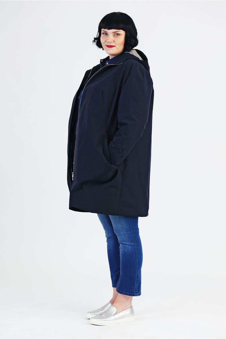 Sewing Pattern for a casual Plussize Parka with XXL Pockets