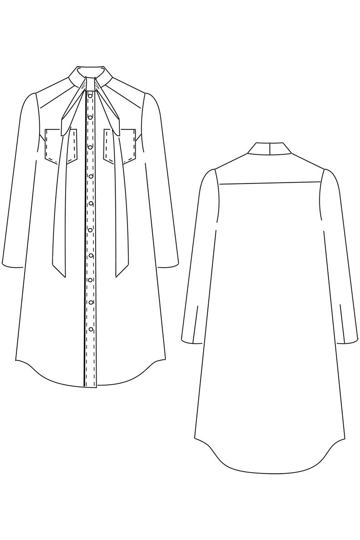 Sewing-Pattern-Dress-#cleodress-technical-drawing | schnittchen patterns