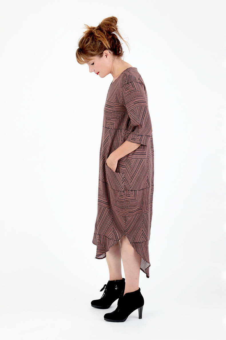 2cf462d49d8f8 Sewing Pattern Cocoon Dress Trine - made with a beautiful fabric from Lotte  Martens