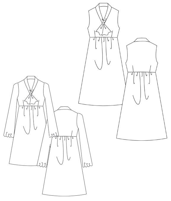 Ein schnell genähtes und ganz einfaches Schnittmuster für eine Sommerkleid!
