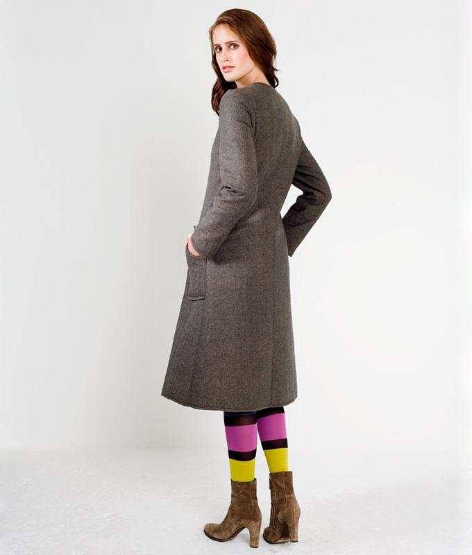Schnittmuster Mantel Audrey ist ein einfacher Mantel mit aufgesetzten Taschen