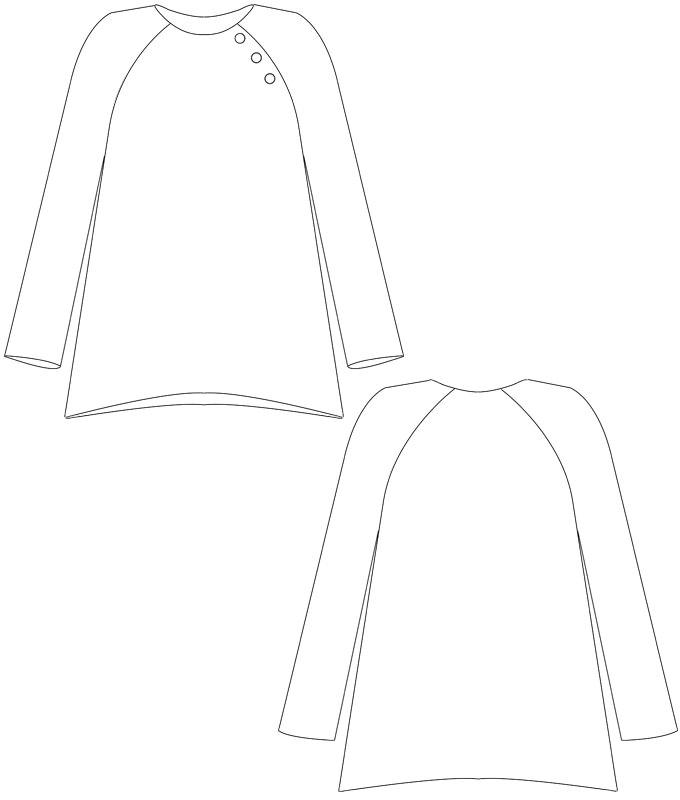 Schnittmuster Shirt Anni - schnittchen Schnittmuster