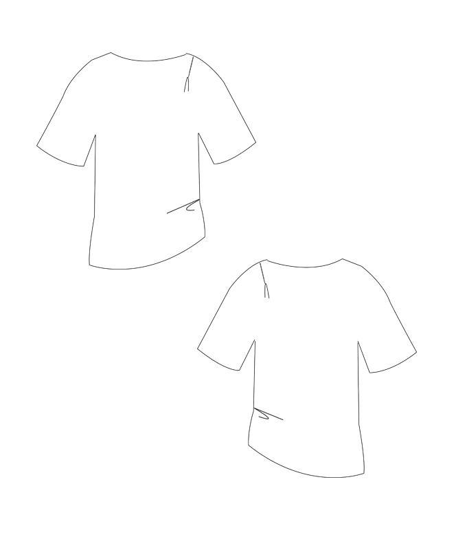 Schnittmuster T-Shirt Mira