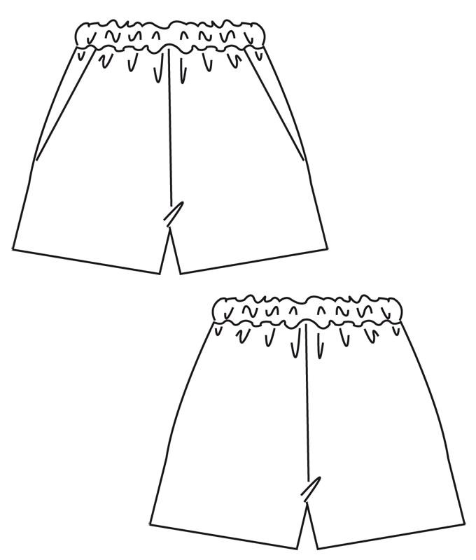 Schnittmuster Shorts Jessica