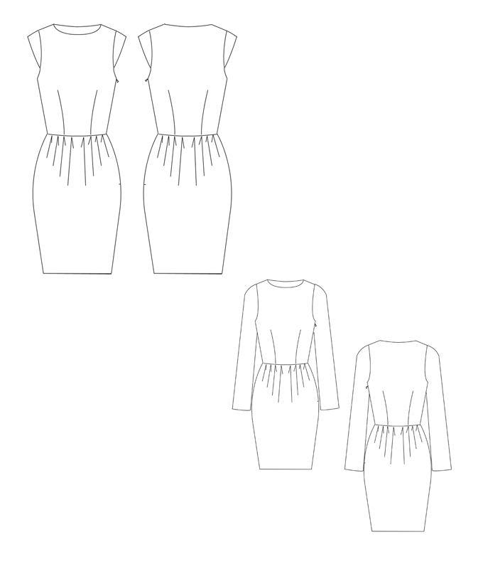 Schnittmuster für ein schickes Tulpenkleid von schnittchen.