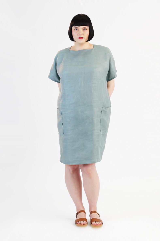 Schnittmuster für ein Cocoon Kleid - ganz einfach zum selbernähen