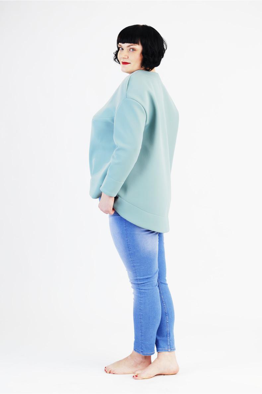 Schnittmuster für einfaches Plus size Shirt abgerundetem Saum