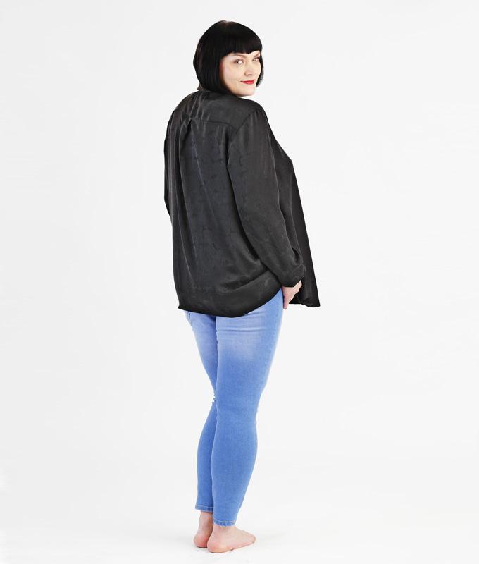 Schnittmuster für weite Bluse in großen Größen - mit und ohne Ärmel