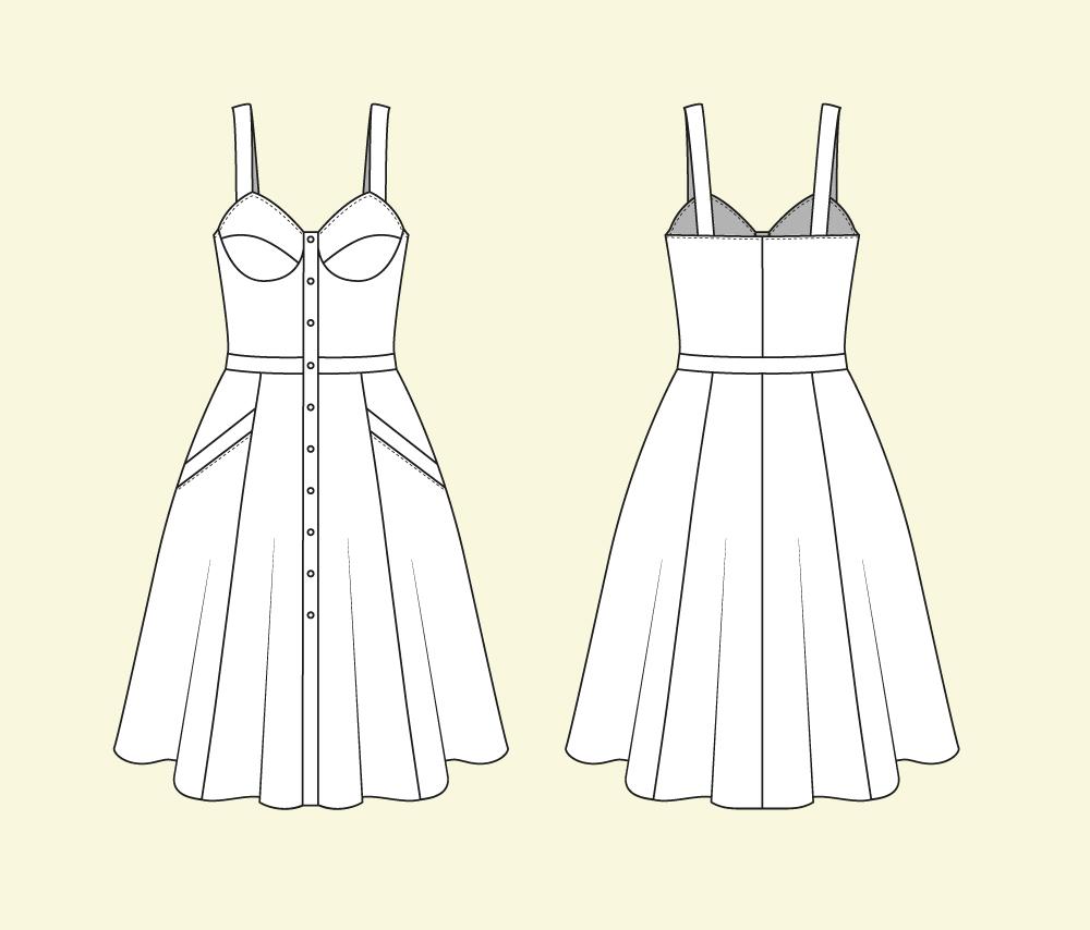 Kurzes kleid schnittmuster